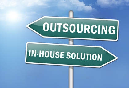"Way Signs ""Outsourcing - In-House Solutions"""