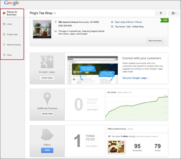 google-Places Dashboard New