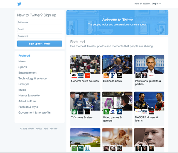 Twitter Rolls Out New Home Page Design For Non Registered Users