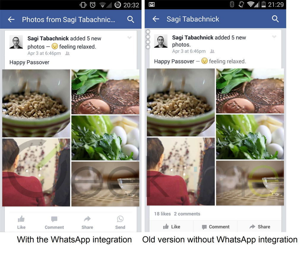 Facebook Tests WhatsApp Integration I