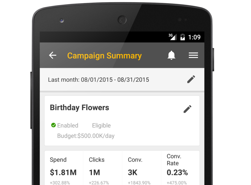 bing ads mobile app