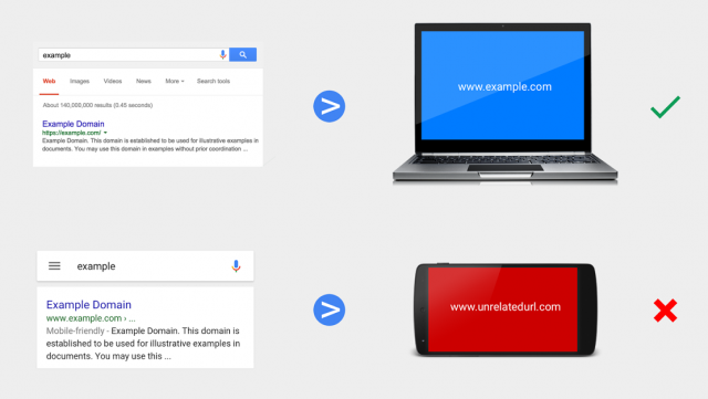 Google Announces Warning Against Irrelevant Mobile Redirects