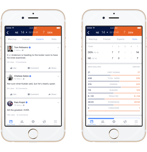 Facebook Introduces Sports Stadium Feature