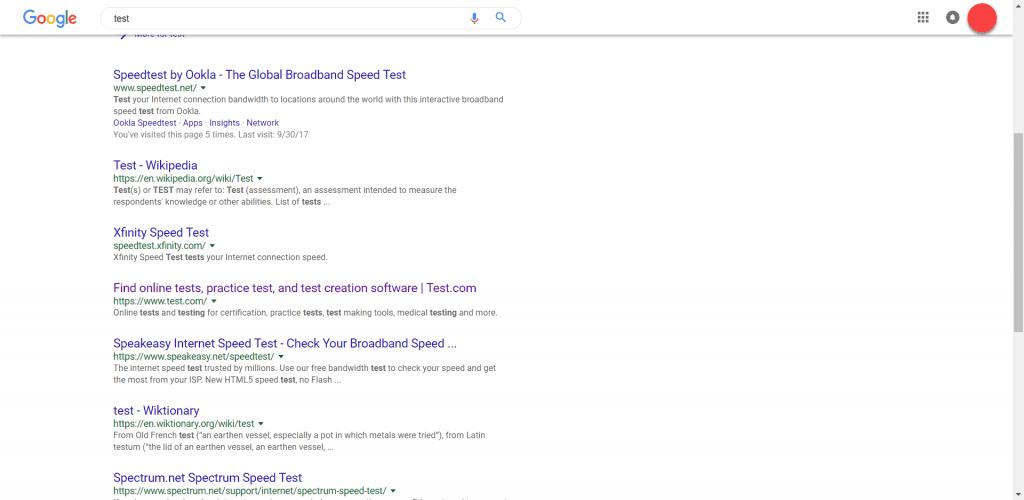 google tests new design