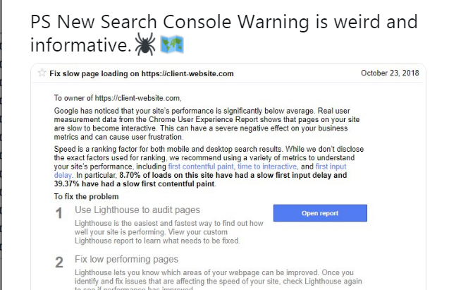 Google Search Console Slow Loading Pages